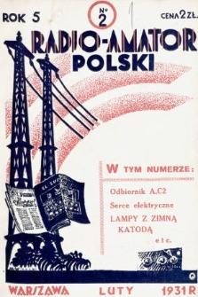 Radjo-Amator Polski : miesięcznik popularno-techniczny. 1931, nr2