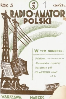 Radjo-Amator Polski : miesięcznik popularno-techniczny. 1931, nr3