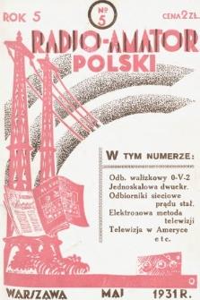 Radjo-Amator Polski : miesięcznik popularno-techniczny. 1931, nr5