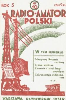 Radjo-Amator Polski : miesięcznik popularno-techniczny. 1931, nr10