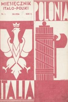Polonia-Italia : miesięcznik italo-polski. 1936, nr1