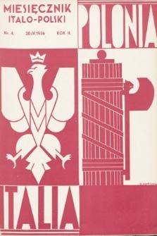 Polonia-Italia : miesięcznik italo-polski. 1936, nr4