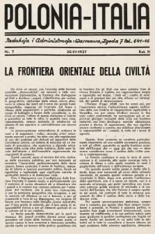Polonia-Italia : miesięcznik italo-polski. 1937, nr7