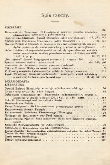 Prawnik : miesięcznik wydawany przez Bibliotekę Słuchaczów Prawa we Lwowie. 1912, spis rzeczy