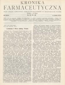Kronika Farmaceutyczna : organ Związku Zawodowego Farmaceutów-Pracowników w Rzeczypospolitej Polskiej. 1929, nr22-23