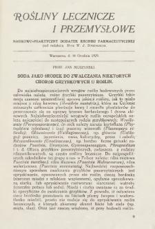 """Rośliny Lecznicze i Przemysłowe : naukowo-praktyczny dodatek """"Kroniki Farmaceutycznej"""". 1929, nr16 grudnia"""
