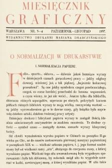 Miesięcznik Graficzny : wydawnictwo Drukarni Mariana Drabczyńskiego. 1937, nr3-4