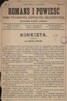 Romans i powieść : pismo tygodniowe poświęcone beletrystyce. 1900, nr1