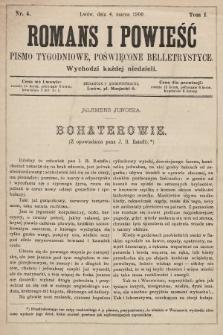 Romans i powieść : pismo tygodniowe poświęcone beletrystyce. 1900, nr4