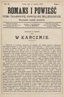 Romans i powieść : pismo tygodniowe poświęcone beletrystyce. 1900, nr18