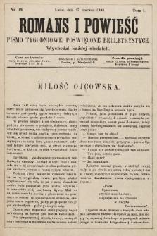 Romans i powieść : pismo tygodniowe poświęcone beletrystyce. 1900, nr19