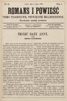 Romans i powieść : pismo tygodniowe poświęcone beletrystyce. 1900, nr21