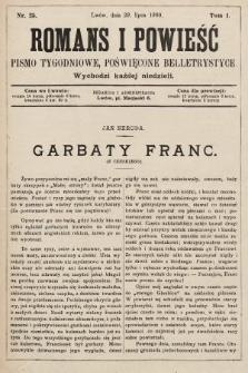 Romans i powieść : pismo tygodniowe poświęcone beletrystyce. 1900, nr25