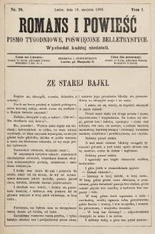 Romans i powieść : pismo tygodniowe poświęcone beletrystyce. 1900, nr28