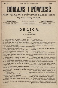 Romans i powieść : pismo tygodniowe poświęcone beletrystyce. 1900, nr32