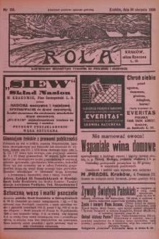 Rola : ilustrowany bezpartyjny tygodnik ku pouczeniu i rozrywce. 1936, nr35