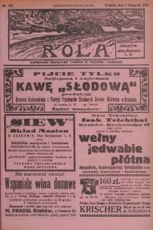 Rola : ilustrowany bezpartyjny tygodnik ku pouczeniu i rozrywce. 1936, nr45