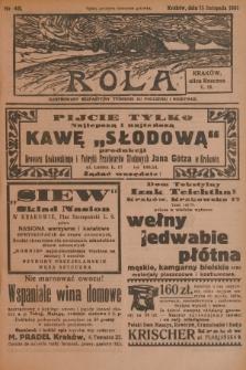 Rola : ilustrowany bezpartyjny tygodnik ku pouczeniu i rozrywce. 1936, nr46