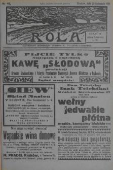 Rola : ilustrowany bezpartyjny tygodnik ku pouczeniu i rozrywce. 1936, nr48