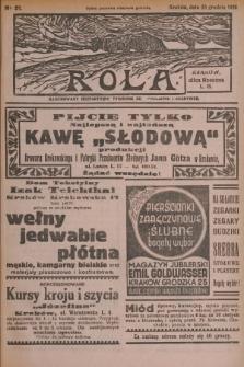 Rola : ilustrowany bezpartyjny tygodnik ku pouczeniu i rozrywce. 1936, nr51