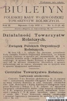 Biuletyn Poleskiej Rady Wojewódzkiej Towarzystw Rolniczych. 1927, nr1-2