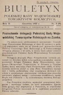 Biuletyn Poleskiej Rady Wojewódzkiej Towarzystw Rolniczych. 1927, nr5