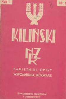 Kiliński : NZR : pamiętniki, opisy, wspomnienia, biografje. 1936, nr1