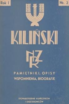 Kiliński : NZR : pamiętniki, opisy, wspomnienia, biografje. 1936, nr2