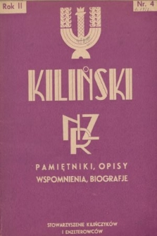 Kiliński : NZR : pamiętniki, opisy, wspomnienia, biografje. 1937, nr4
