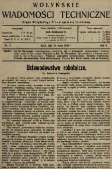 Wołyńskie Wiadomości Techniczne : organ Wołyńskiego Stowarzyszenia Techników. 1926, nr5