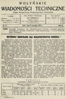 Wołyńskie Wiadomości Techniczne : organ Wołyńskiego Stowarzyszenia Techników. 1927, nr9