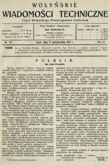 Wołyńskie Wiadomości Techniczne : organ Wołyńskiego Stowarzyszenia Techników. 1927, nr10