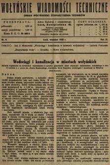Wołyńskie Wiadomości Techniczne : organ Wołyńskiego Stowarzyszenia Techników. 1935, nr9