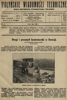 Wołyńskie Wiadomości Techniczne : organ Wołyńskiego Stowarzyszenia Techników. 1936, nr2