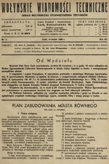 Wołyńskie Wiadomości Techniczne : organ Wołyńskiego Stowarzyszenia Techników. 1936, nr4
