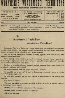 Wołyńskie Wiadomości Techniczne : organ Wołyńskiego Stowarzyszenia Techników. 1936, nr5