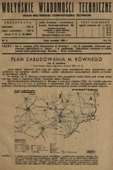 Wołyńskie Wiadomości Techniczne : organ Wołyńskiego Stowarzyszenia Techników. 1936, nr9