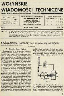 Wołyńskie Wiadomości Techniczne : organ Wołyńskiego Stowarzyszenia Techników. 1938, nr2