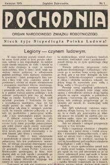 Pochodnia : organ Narodowego Związku Robotniczego. 1915, nr1