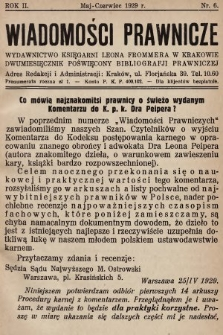 Wiadomości Prawnicze : wydawnictwo Księgarni Leona Frommera w Krakowie : dwumiesięcznik poświęcony bibliografji prawniczej. 1929, nr6