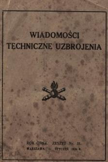 """Wiadomości Techniczne Uzbrojenia : dodatek kwartalny do zeszytu 1-go """"Przeglądu Artyleryjskiego"""". 1936, nr 31"""