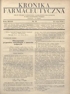 Kronika Farmaceutyczna : organ Związku Zawodowego Farmaceutów-Pracowników w Rzeczypospolitej Polskiej. 1934, nr10