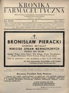 Kronika Farmaceutyczna : organ Związku Zawodowego Farmaceutów-Pracowników w Rzeczypospolitej Polskiej. 1934, nr13