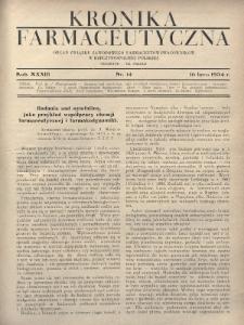 Kronika Farmaceutyczna : organ Związku Zawodowego Farmaceutów-Pracowników w Rzeczypospolitej Polskiej. 1934, nr14