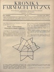 Kronika Farmaceutyczna : organ Związku Zawodowego Farmaceutów-Pracowników w Rzeczypospolitej Polskiej. 1934, nr19