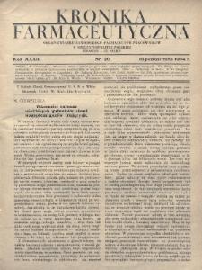 Kronika Farmaceutyczna : organ Związku Zawodowego Farmaceutów-Pracowników w Rzeczypospolitej Polskiej. 1934, nr20