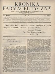 Kronika Farmaceutyczna : organ Związku Zawodowego Farmaceutów-Pracowników w Rzeczypospolitej Polskiej. 1934, nr23