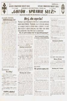Gotów ! Sprawie Służ! : perjodyczne wydawnictwo organizacyjne dla ooddziałów. [R. 12], 1936, nr6