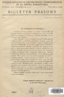 Biuletyn Prasowy. 1937, nr1