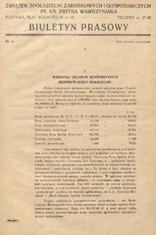 Biuletyn Prasowy. 1937, nr3